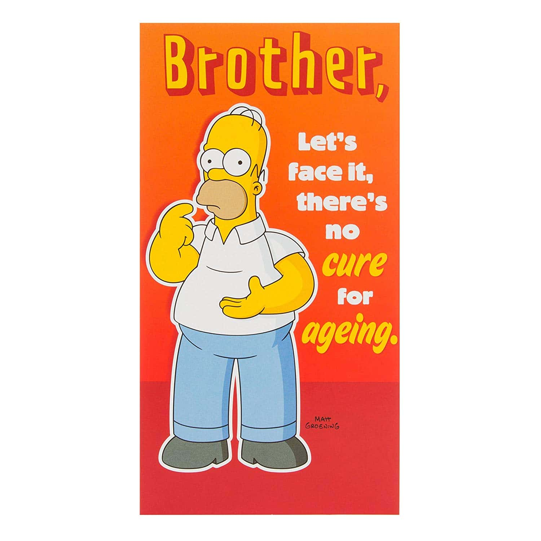 Carte Simpsons carte d'anniversaire pour frère Solution temporaire