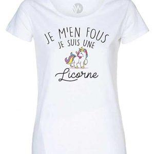 T-Shirt Je m' en Fous Je suis Une Licorne