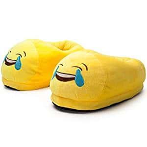 Chaussons en Peluche Antidérapants Emoji Expressions Pantoufles