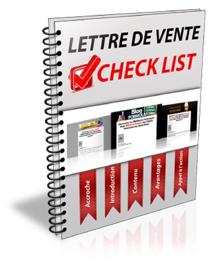 Lettre de vente check list