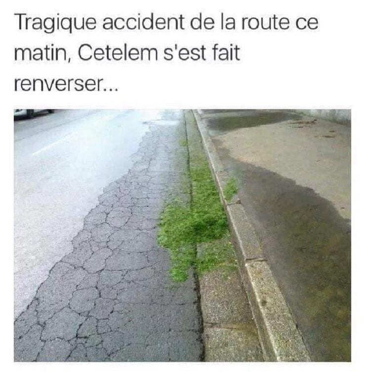 Tragique accident de la route ce matin