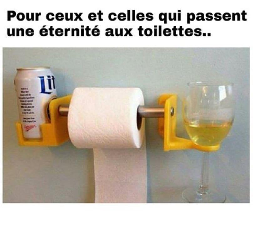 Pour ceux et celles qui passent une éternité aux toilettes.