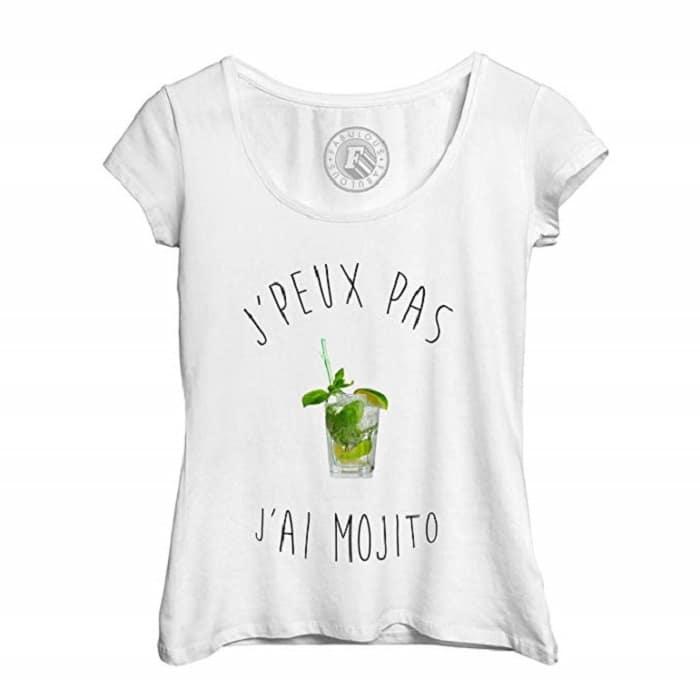 T-Shirt Femme J'Peux Pas J'Ai Mojito Humour