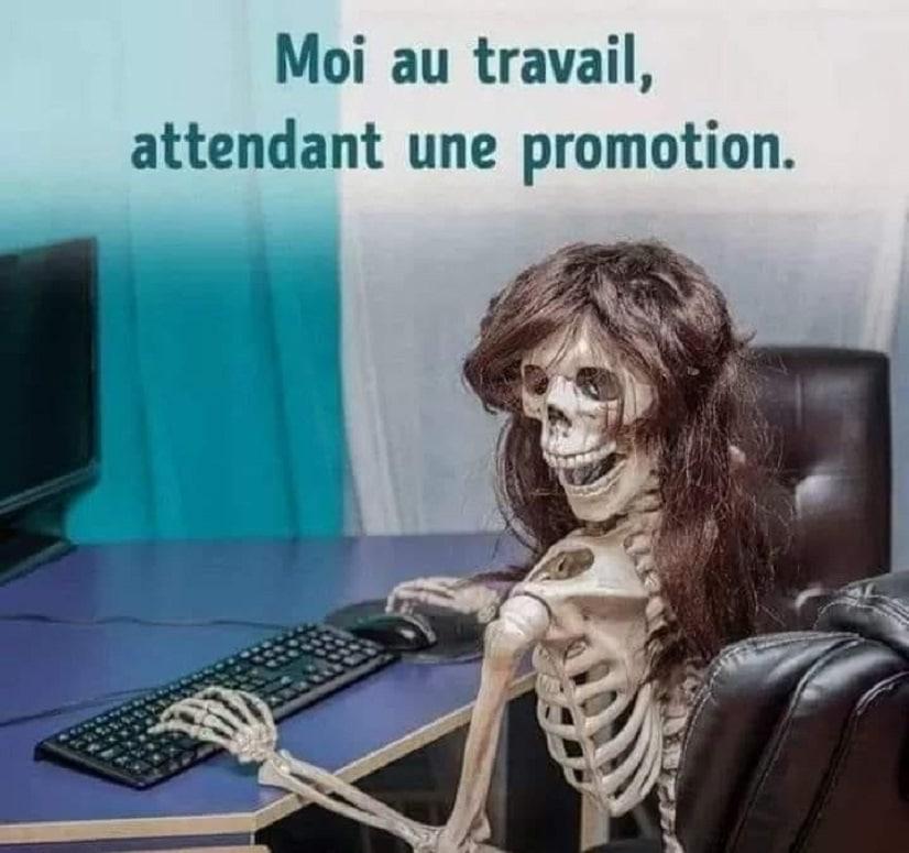 Moi au travail attendant une promotion