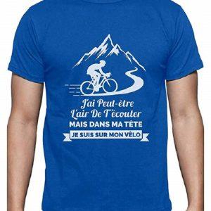T-Shirt Cyclisme - dans Ma Tête Je suis sur Mon Vélo
