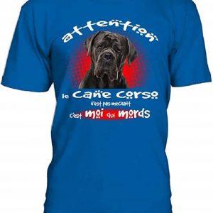 T-Shirt Animal Chien Humour Le Cane Corso n'est Pas méchant C'est Moi Qui mords Homme