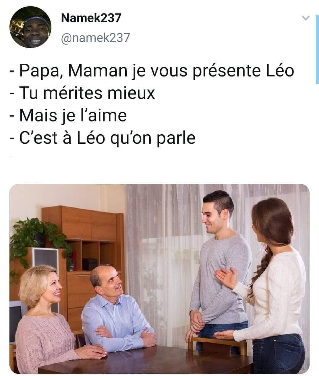 Papa, Maman je vous présente Léo