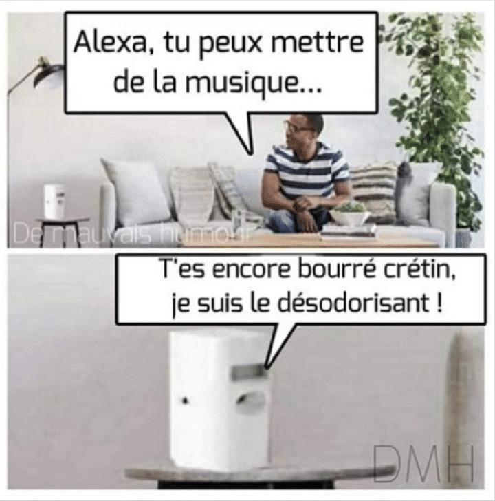 Alexa, tu peut mettre de la musique