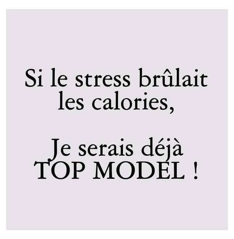Si le stress brûlait les calories...