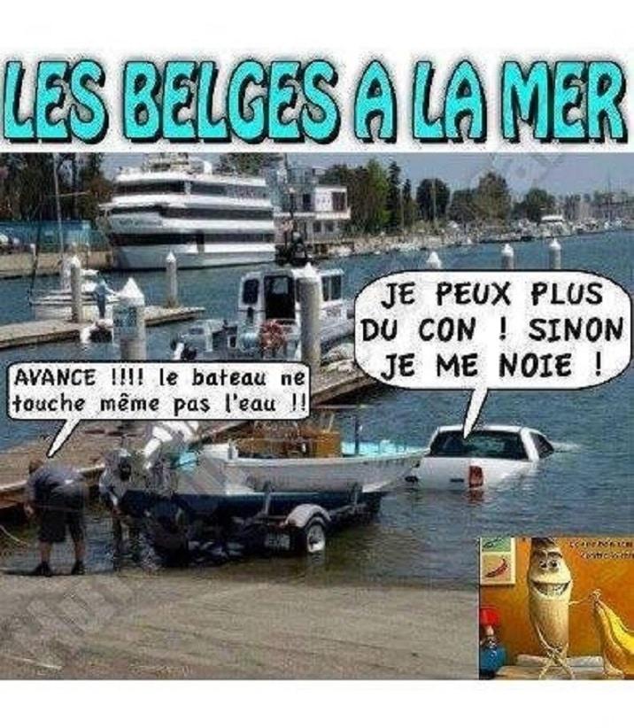 Les belges a la mer