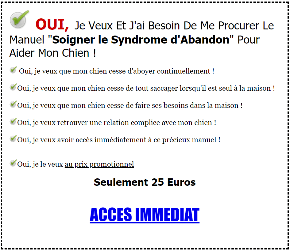 Soigner le Syndrome d'Abandon