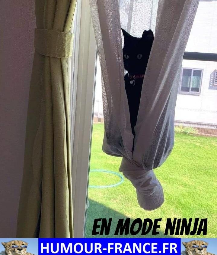 En mode ninja.