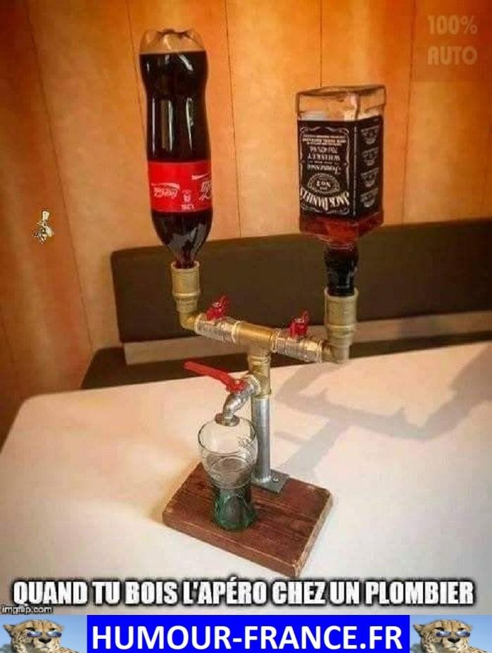 Quand tu bois l'apéro chez un plombier.