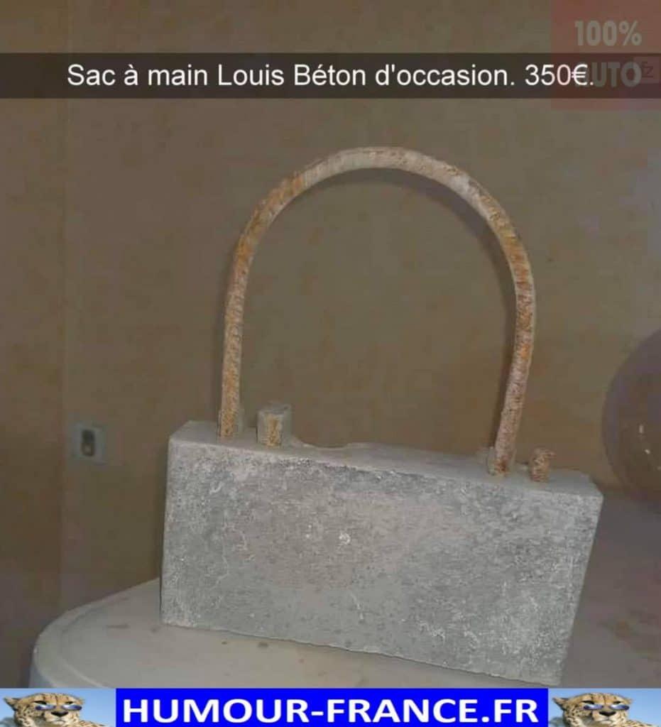 Sac à main Louis Béton d'occasion.